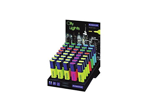 STAEDTLER City Lights - Expositor fluorescentes con 80 marcadores fluorescentes Expositor 9bfff5