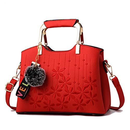 Delle A Del Nero 27x13x18cm Per Mjfo Red Fiore Borsemessenger Donne Tracolla Le Borsette Tote Donna Donneborsa Donne Bag Borse Ricamo XqqTw7v