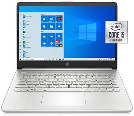 "2021 HP 14"" HD WLED Laptop PC, Intel Core i5-1035G1 Processor, 8GB RAM, 256GB SSD, Wi-Fi 5, HDMI, Webcam, Bluetooth 5, Windows 10, Natural Silver, W/ IFT Accessories"