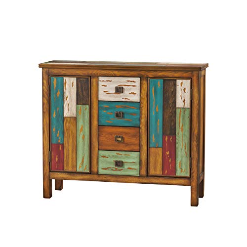 Distressed Wood Cabinets - Distressed Wood Cabinet, Home Storage Shelves and Organizer Drawers