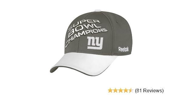 c77aec9b94a25 Amazon.com   NFL New York Giants Super Bowl XLVI Champions Official Locker  Room Hat