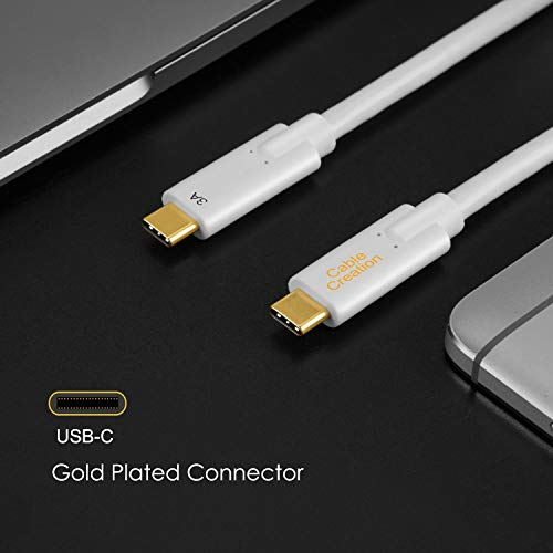 CableCreation USB C to USB C 3.1 Gen 2 Cable 5ft, 10Gbps USB 3.1 Type C Fast Charge with 60W Power Delivery and 4K Video, Compatible with Oculus Quest/Link, MacBook (Pro), Hard Drives, 1.5M /White