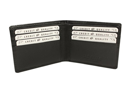 Irish Leather Wallet Black Celtic Wolf Hound Design Ireland Made by Biddy Murphy (Image #1)