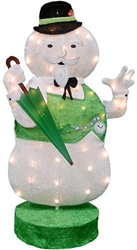 (ProductWorks 36-Inch Rudolph 2D Pre-Lit Yard Art Sam The Snowman, 50 Lights)