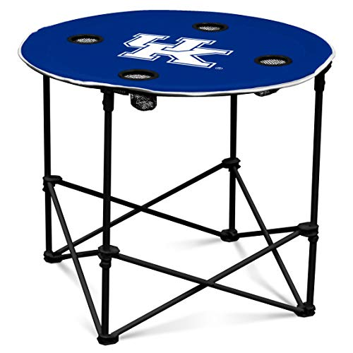 Kentucky Wildcats Collapsible Round Table with 4 Cup Holders and Carry Bag -