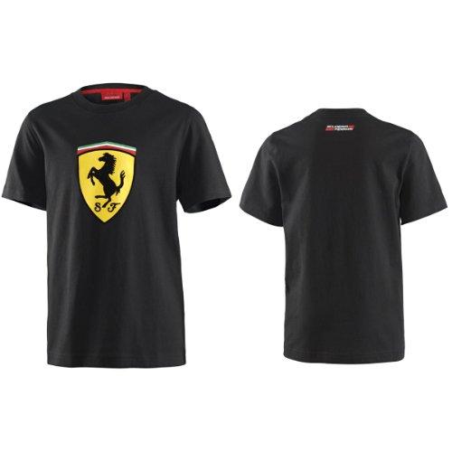 Ferrari Black Shield Logo Tee - Ferrari Logo Shield
