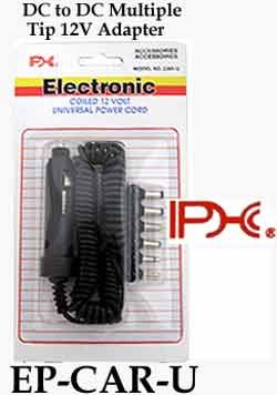 PHC DC Power Cord for Radar Detector with 6-Tips