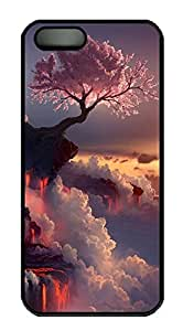 iPhone 5 5S Case Landscapes Flowering Fire PC Custom iPhone 5 5S Case Cover Black