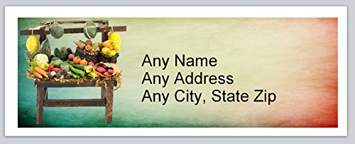 120 Personalized Address labels Fruit Cart (ac 738)