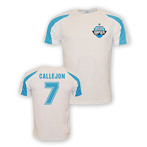 Jose Callejon Napoli Sports Training Jersey (white) Kids B0787W4VS8 SB (5-6 Years)|White White SB (5-6 Years)