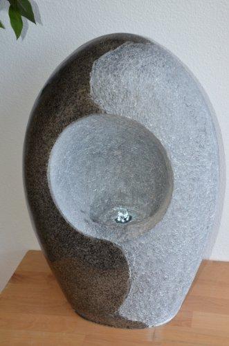 Welland Yin/Yang Outdoor Indoor Modern Water Fountain -23 inch Height