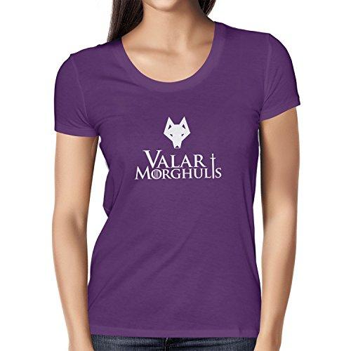 Texlab Got: Valar Morghulis - Damen T-Shirt, Größe XL, Violett