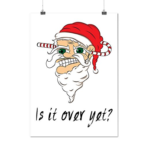 [Over yet Santa Christmas Evil Santa Matte/Glossy Poster A4 (9x12 inches)   Wellcoda] (Bride And Groom Halloween Costumes Uk)