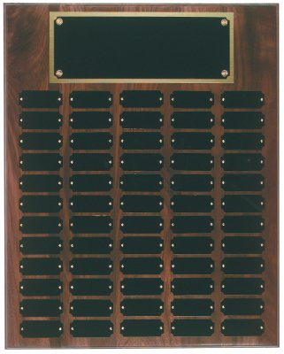 Genuine Walnut Perpetual Plaque - 60 Plate Perpetual Plaque 16