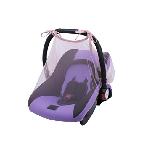 (YJYdada Baby Crib Seat Mosquito Net Newborn Curtain Car Seat Insect Netting Canopy Cover (Pink))
