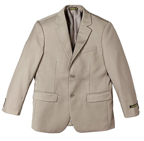 Spring Notion Big Boys' Two Button Blazer Tan 14