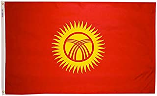 product image for Annin Flagmakers Model 974021 Kyrgyzstan Flag Nylon SolarGuard NYL-Glo, 2x3 ft, 100% Made in USA to Official United Nations Design Specifications