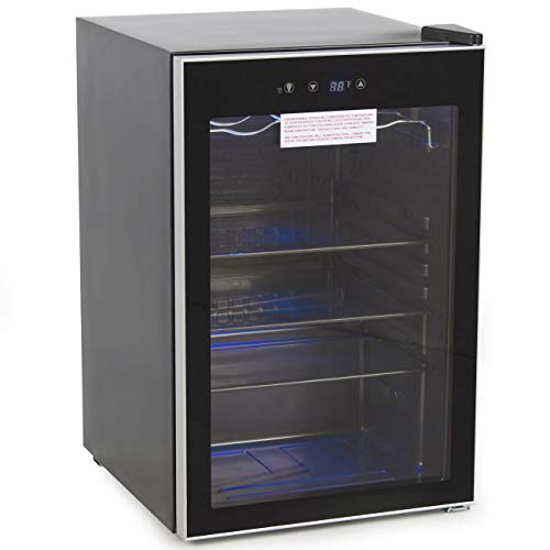 ROYAL SOVEREIGN RMF-BC-128SS Beverage and Wine Cooler, Black, 4.5 Cubic Feet