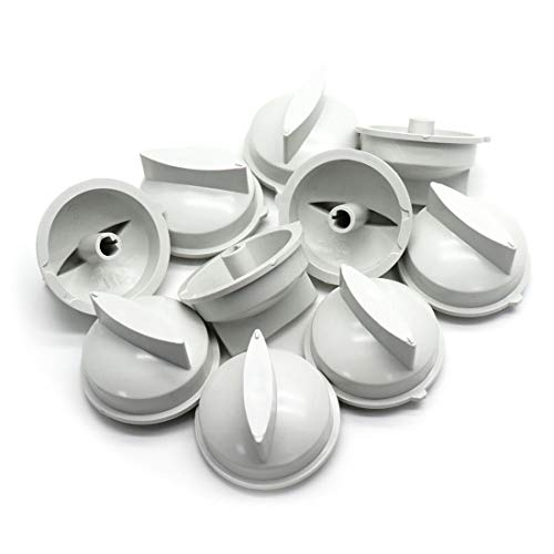 LDEXIN 10Pcs Universal Timer Control Knobs Replacement Appliance Knobs for Microwave Oven White Color