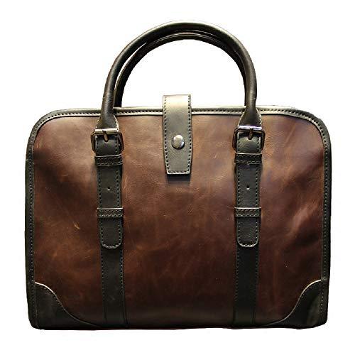 de Bolso Bolso del de de maletín ZHRUI del los la PU de para Bolso la Manera del la de Paquete Mensajero Bolsa de Cuero Bolso Hombres Hombro Hombro 1 Marrón marrón Bolso de OttUqw