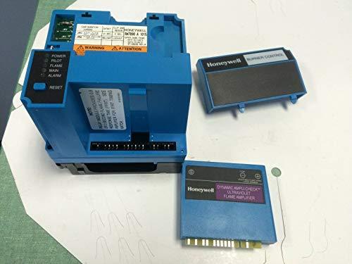 USED HONEYWELL BURNER CONTROL RM7890A 1015 W/ R7849 B 1021, Q7800 A 1005 CO