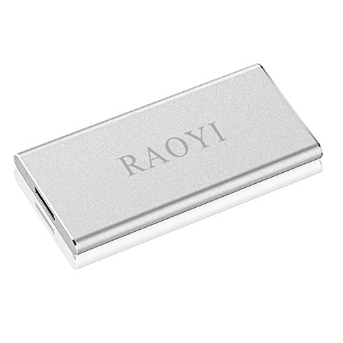 RAOYI 120GB USB 3.0 External Portable SSD, Ultra Slim Solid State Drive High Speed Write/Read up to 300/400 MB/s Aluminum, Silver by RAOYI (Image #8)