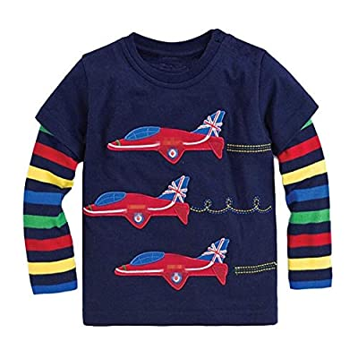 Onlyso Toddler Little Boys Chromatic Airplane Tees Shirts Tops