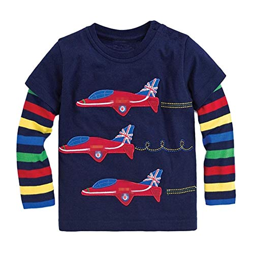 Onlyso Toddler Little Boys Chromatic Airplane Tees Shirts Tops (2T, Blue) ()