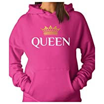 TeeStars - QUEEN Crown - Matching Couples Women Hoodie X-Large Red
