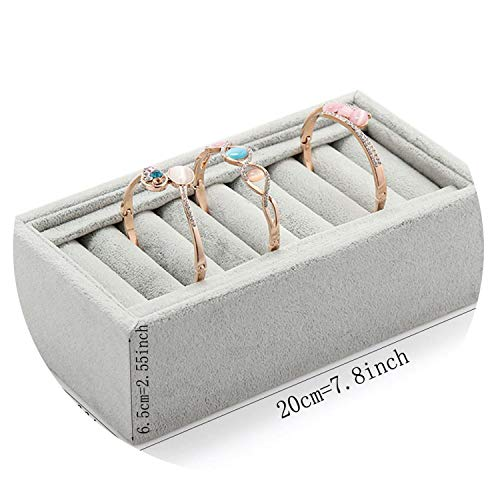 - Bracelet Display Cases Stud Bracelet Box Jewelry Organizer Box for Jewelry Jewelry Boxes and Packaging,Gray