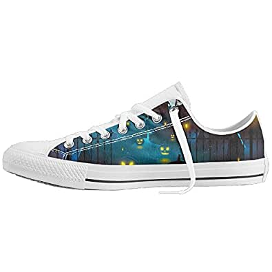 Halloween Low Top Sneakers Casual Unisex Light Weight Canvas Shoes Canvas Sneakers