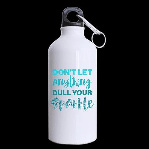 Don't Let Anything Dull Your Sparkle Custom Sport Water Bottle Travel Cup Nice Gift 13.5 OZ (Dropship Personalized Gifts)