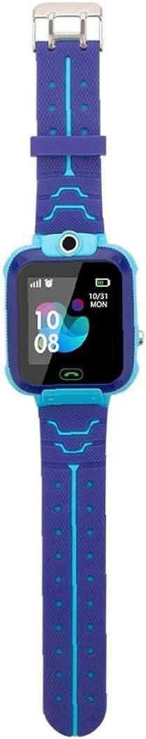 Smart Watch Band Kids Smart Watch Q12 Waterproof Phone Smart Bracelet Tracker Watch Touch Screen Sport Smartwatch for Students Blue
