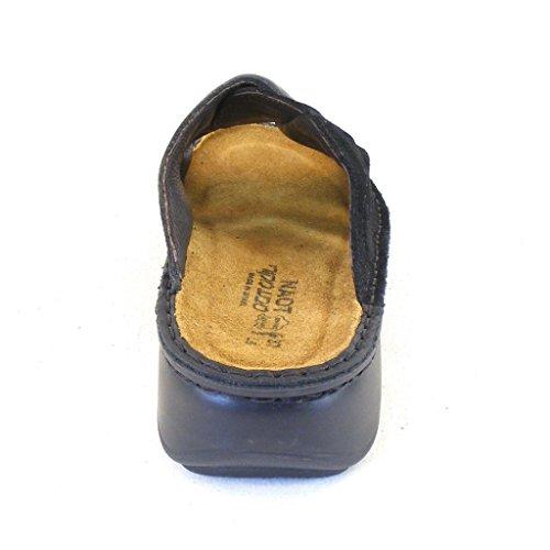 Naot Damen Schuhe Pantoletten Hazel Echt-Leder schwarz combi 14399 Fußbett