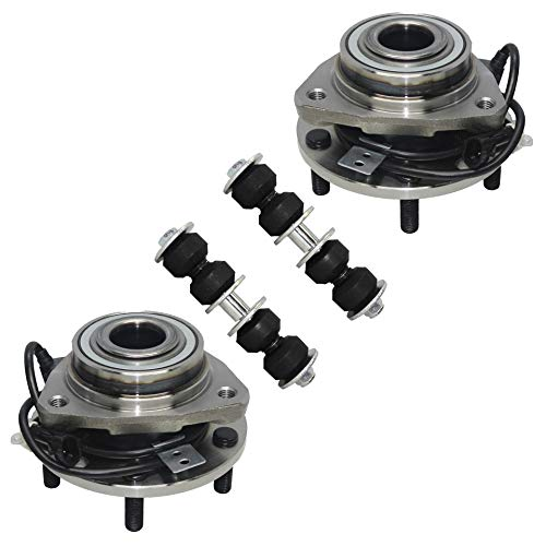 (Detroit Axle - 4PC Front Wheel Hub Bearings and Sway Bars for 1997 1998 1999 2000 2001 2002 2003 2004 2005 Chevrolet Chevy S10 Blazer 4WD)