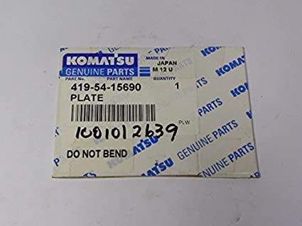 Komatsu Genuine Parts 419-54-15690 Adjustment Plate