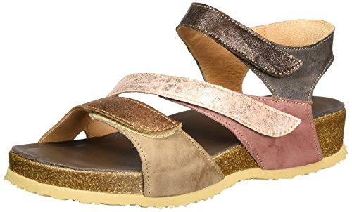 Pensare! Sandali Da Donna Con Cinturino Yogeh Multicolore (taupe / Kombi 27)