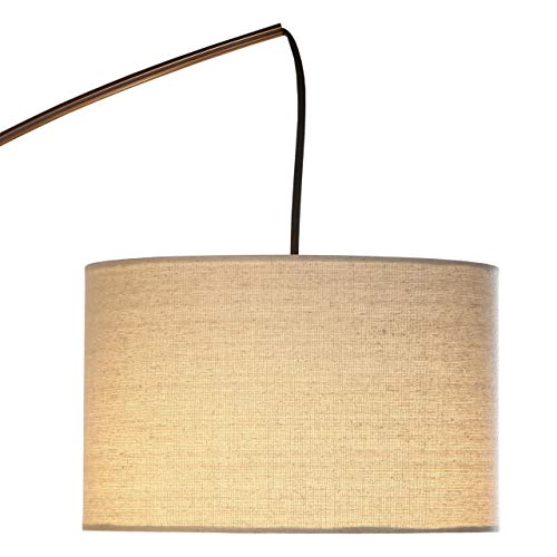 Brightech Trilage - Modern LED Arc Floor Lamp with Marble Base - Free Standing Behind The Couch Lamp for Living Room - 3 Hanging Lights, Great for Reading - Oil Rubbed Bronze by Brightech (Image #1)