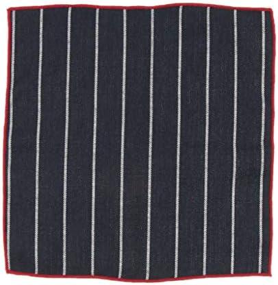 ハンカチ ポケットチーフ チェック柄 正方形 コットン ストライプ ビジネス 吸湿発散性
