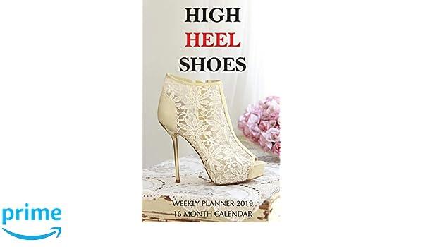 75505b8c777 High Heel Shoes Weekly Planner 2019  16 Month Calendar  Mason Landon   9781726085199  Amazon.com  Books