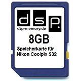 DSP Memory Z-4051557424890 8GB Speicherkarte für Nikon COOLPIX S32