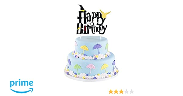 Amazon Harry Potter Cake Topper For Kids Birthday Supplies Theme Party Decorations Home Improvement