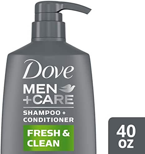 Dove Men + Care Fresh and Clean 2 in 1 Shampoo and Conditioner, 40 Oz, 1182.94 ml