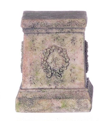 (Dollhouse Miniature Ancient Look Wreath Pedestal by Falcon Miniatures by Falcon Miniatures)