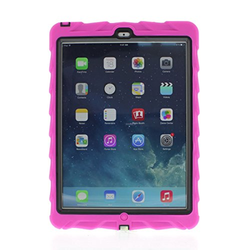 Apple iPad Air Drop Tech Pink Gumdrop Cases Silicone Rugged Shock Absorbing Protective Dual Layer Cover Case ()