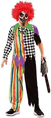 Disfraz de Payaso Siniestro Multicolor para niño: Amazon.es ...