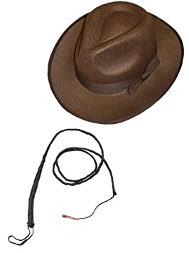 d1b966eb18fda Smiffys Indiana Jones Brown Explorer Hat And Bull Whip. (disfraz)   Amazon.es  Juguetes y juegos