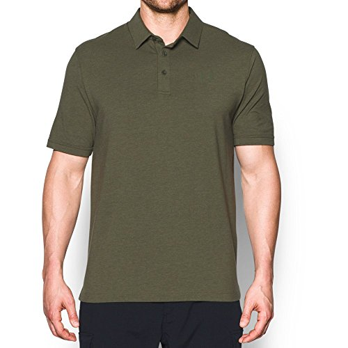 Under Armour Men's Tactical Charged Cotton Polo, Marine Od Green (390)/Marine Od Green, (Under Armour Cotton Polo Shirt)