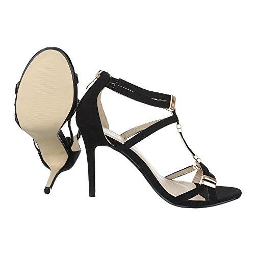 Sandales Ital pour Schwarz femme Design W4S7fSnPx