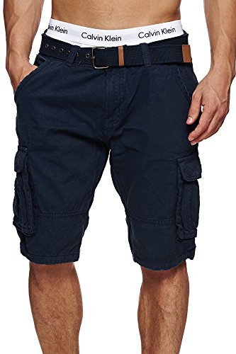S!RPREME Herren Outdoor Cargo Shorts Vintage Kurze Hose Bermuda Sommerhose Battlefield 70-042 Blau M